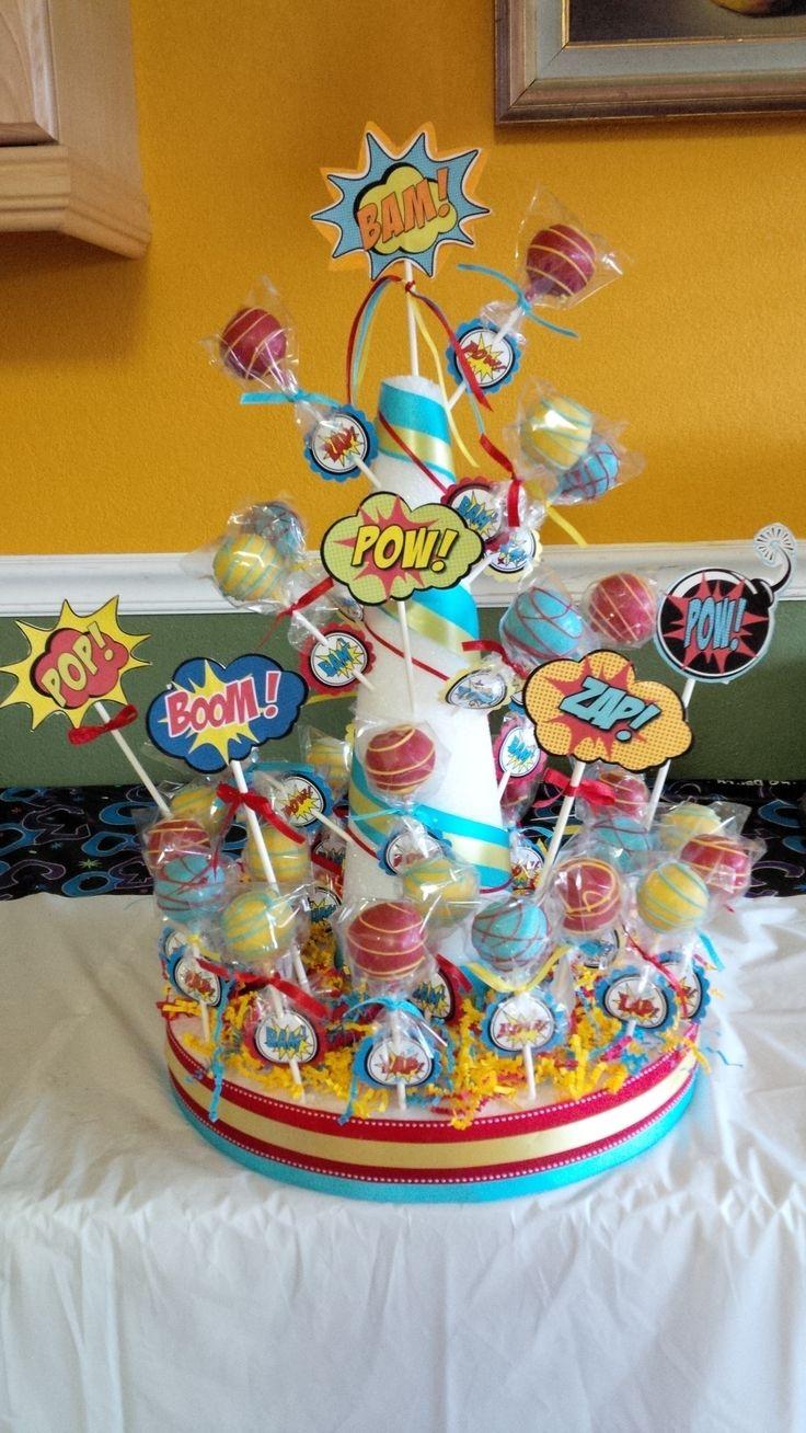 Superhero Cake Pops Party Ideas Pinterest Avenger