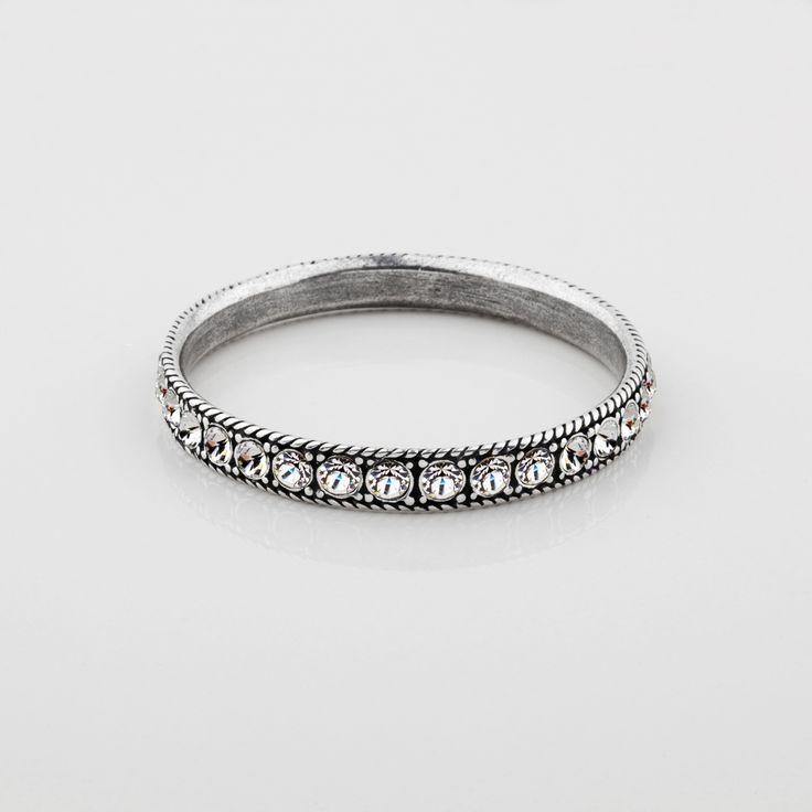 #miglio B1185 S/M Classic Swarovski crystal eternity bangle