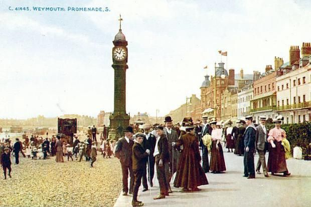 Weymouth, Promenade in early 1900s.