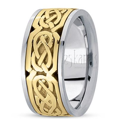 Trendy Sturdy Celtic Wedding Ring
