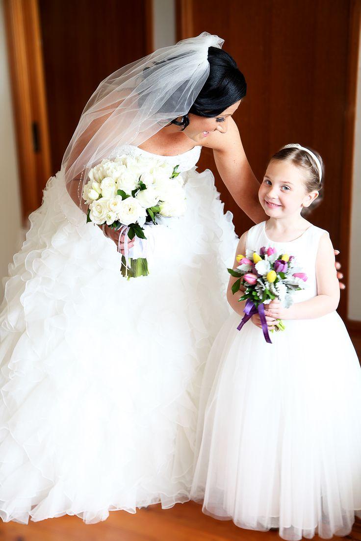 [ wedding photographer sydney ] A beautiful wedding moment between a bride and her daughter. jonellenorman.com