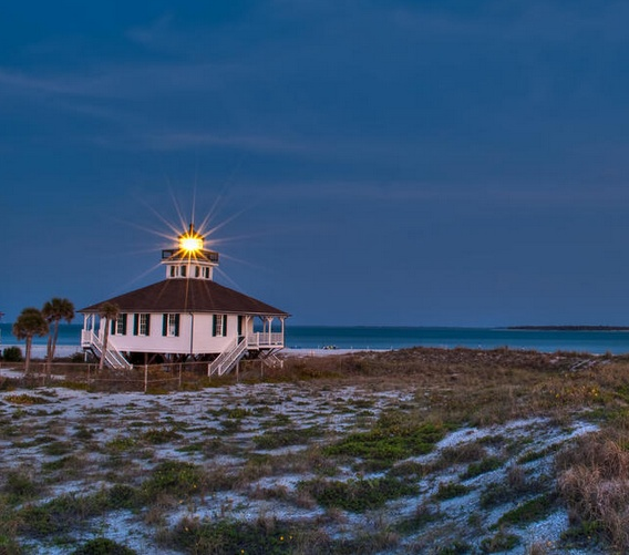 Old Boca Grande on Gasparilla Island in FL, one of the haunted lighthouses -see http://www.completely-coastal.com/2012/10/spooky-halloween-decor-ghosts-lighthouses-movies-queen-mary.html ). Lean about the ghosts: https://www.facebook.com/photo.php?fbid=430237363702387=a.128908803835246.19702.128847517174708=1