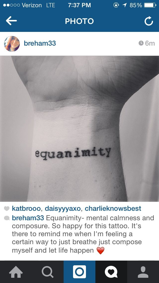This tattoo means so much to me. It's unique it's beautiful and it remin…