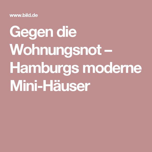 gegen die wohnungsnot hamburgs moderne mini huser - Deckideen Fr Modulare Huser
