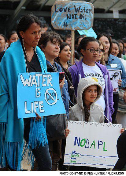 Protesting the Dakota Access Pipeline