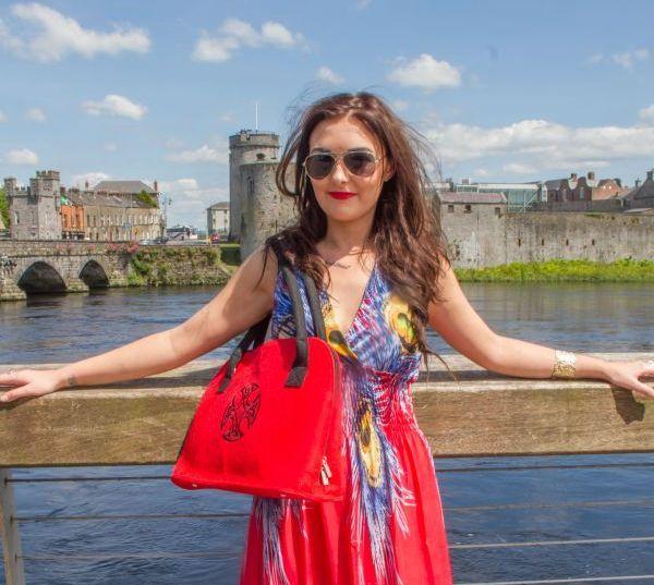 RED FELT BAG, Stylish felt hand bag with Celtic cross design, gift for women,felt handbag on Etsy