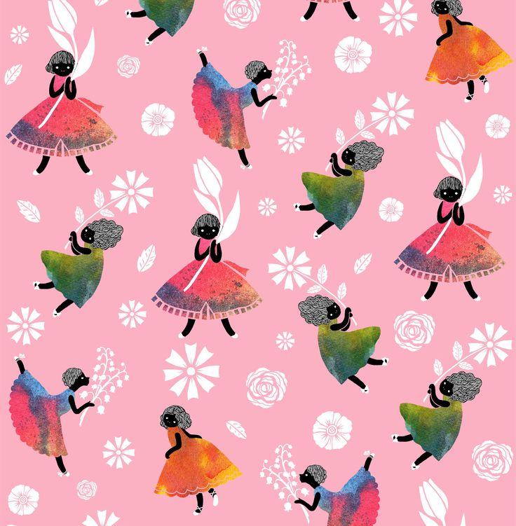 Sas and Yosh 'Flower Girls - Pink'