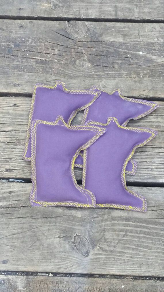 Check out this item in my Etsy shop https://www.etsy.com/listing/243854799/minnesota-vikings-colored-cornhole-bags