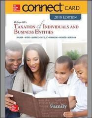 Mcgraw-hill's Taxation of Individuals and Business Entities 2018 Connect Access Card