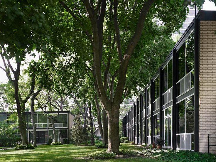 Mies van der Rohe, Lafayette Park, Detroit, 1956 -1965