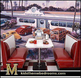 21 best 50 39 s diner 50 39 s drive in theater room images for 50s diner style kitchen