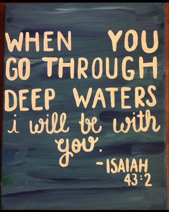 Isaiah 43:2 Scripture Hand Painted Canvas by CraftsByVictoriaJane