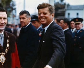 """john-fitzgerald-kennedy: """"President John F. Kennedy Arrives at Eyre Square in Galway, Ireland. 29 June 1963. """""""