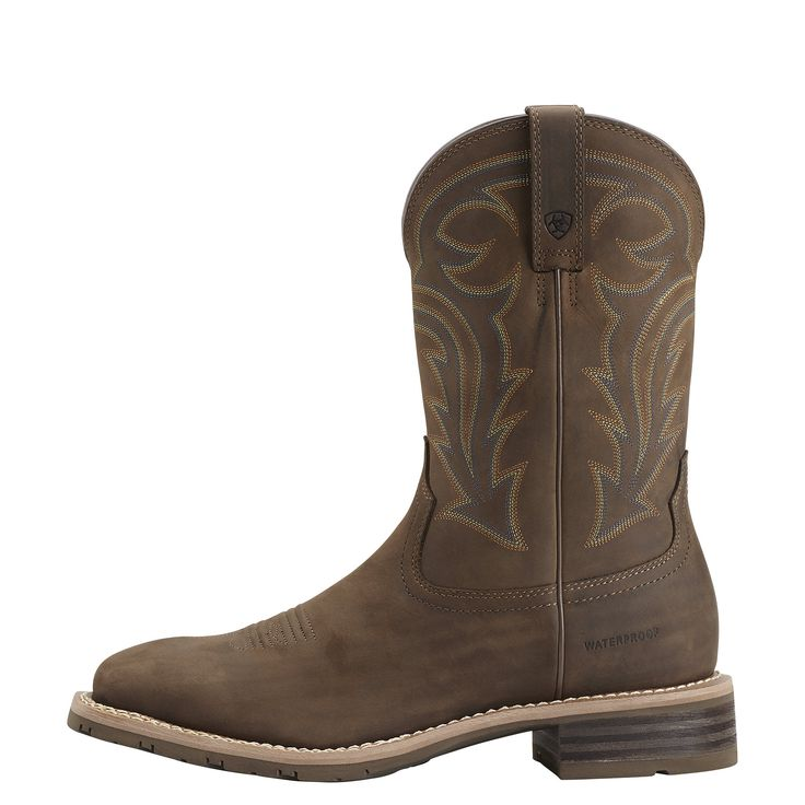 Men's Hybrid Rancher Waterproof Western Boots in Oily Distressed Brown, size 11 D / Medium by Ariat