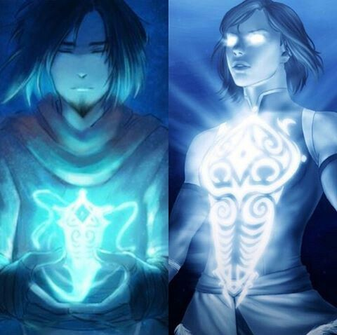 Avatar Wan and Avatar Korra