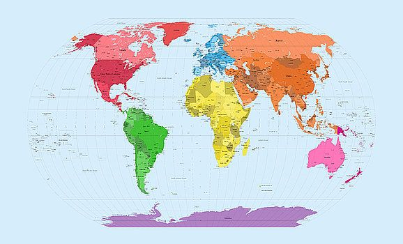 232 best carte du monde images on pinterest cards worldmap and michael tompsett world map continents gumiabroncs Images