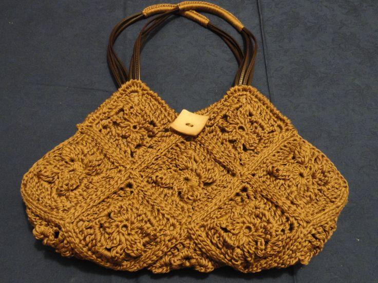 borsa crochet in cotone