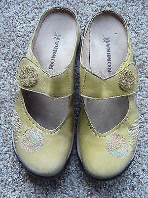 Romika Ladies Shoes - Size EUR 37/US 6/6.5 - Light Green