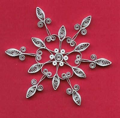 Quilled snowflake patterns from All Things Paper.  I made these years ago for our Christmas tree. They were just beautiful. I still have them but they are now quite fragile but still holding together after 20 years.