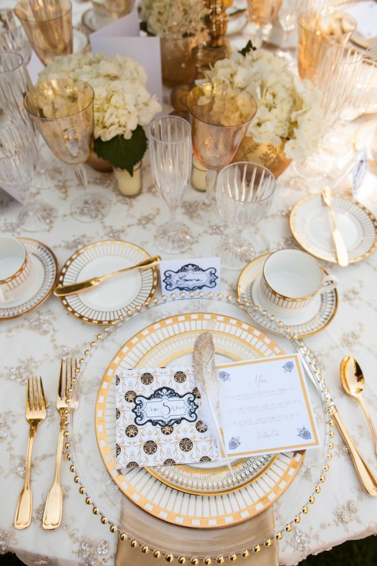 2017 Wedding Trends and Predictions- Say Goodbye to DIY.  The look now is opulent, updated, and individualized.  Think refined, not rustic.  Pieces are curated,showing a thoughtful selection chosen specifically for the celebration.  Every shade of gold is on-trend, as is lush linens, as fabrics become more and more detailed. Soft shades of champagne, blush, and taupe are highlighted with re-embroidered lace, sequins, and raw fabric treatments