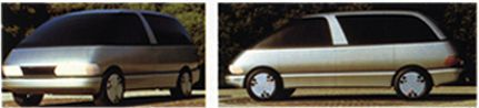 OG  1990 Toyota Previa / Estima  Full-size mock-up