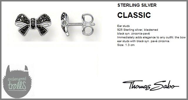 Thomas Sabo  - Fall 2012 - Classic Collection - Pavé Bow Stud Earrings (Black)