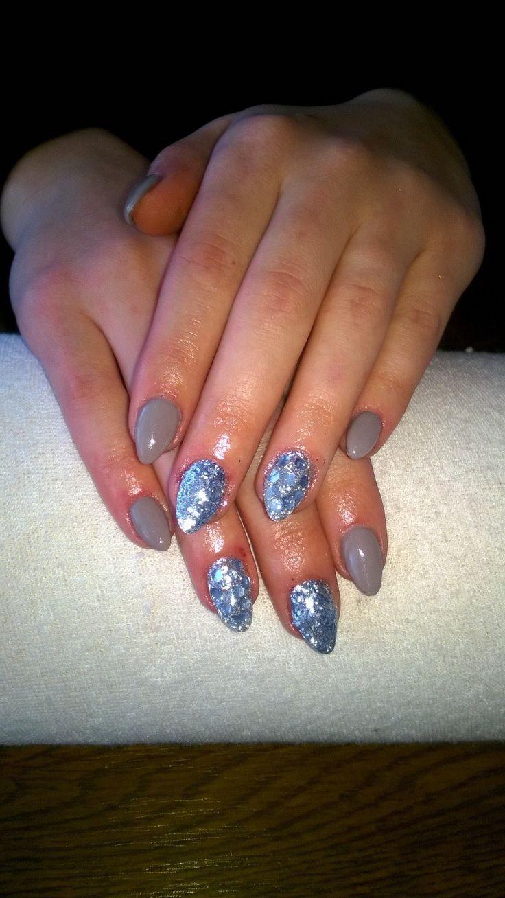 grey gel and silver glitter