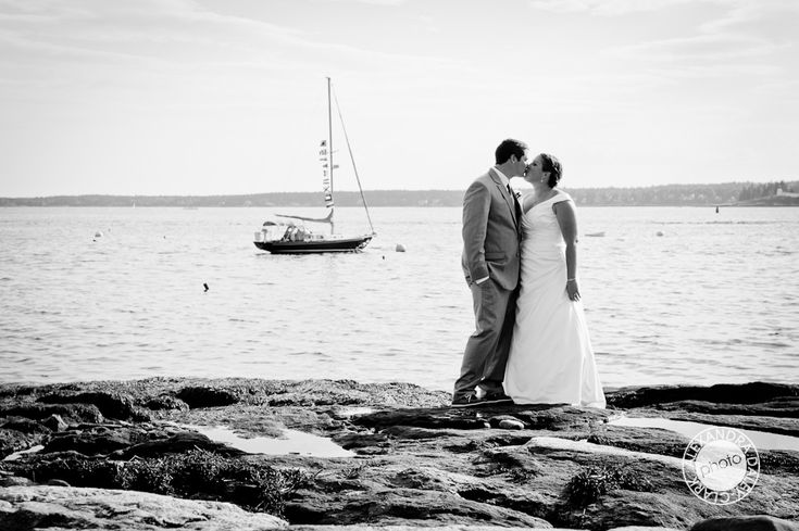 Gwen and Andy's Spruce Point Inn, Boothbay Harbor, Maine wedding
