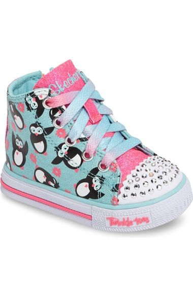 SKECHERS Twinkle Toes Shuffles Light Up High Top Sneaker (Walker & Toddler)  available at