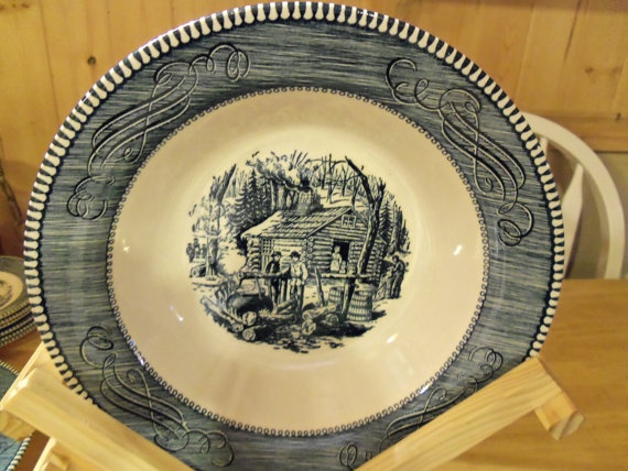 Currier \u0026 Ives Bowl Cabin by alottocollect on Etsy $8.00 & Best 89 Currier \u0026 Ives Dinnerware images on Pinterest | Currier and ...