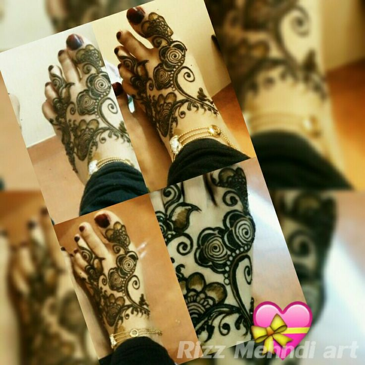 For feet ! And its lovely ! Rizz mehndi art ♡