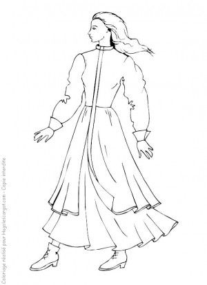 fashion coloring page 12