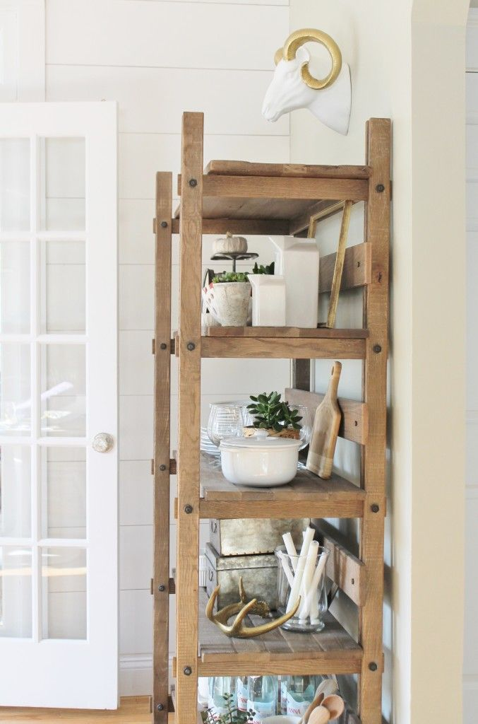 Fall tour bhg rustic kitchen shelving decor ideas pinterest home