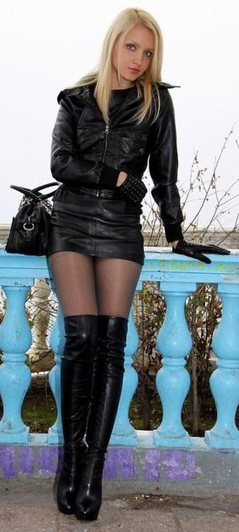 nylons leather