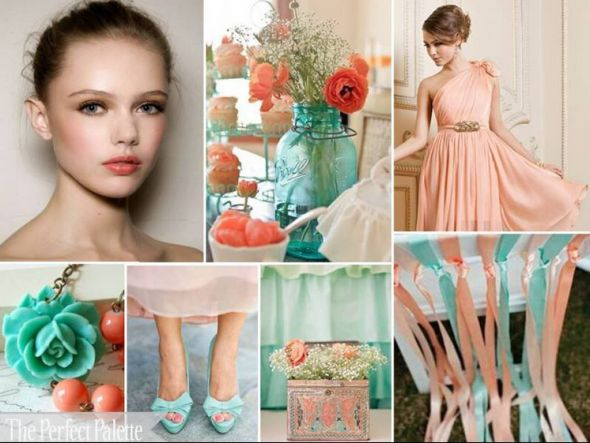 Peach wedding color inspiration