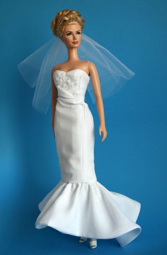barbie wedding dress dress barbie barbie barbie clothes doll dresses