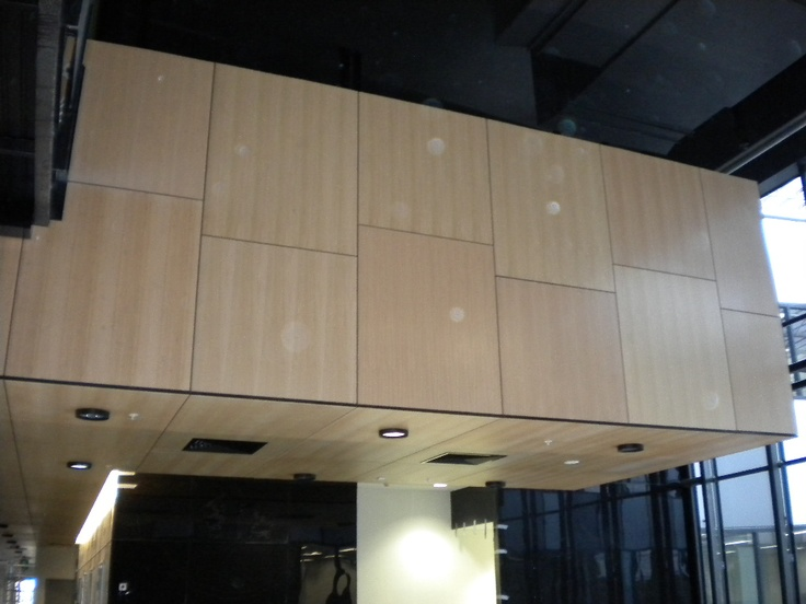 Solid and Perforated Panels with Timber Veneer, used on a major project in QLD, panels made be Keystone Acoustics