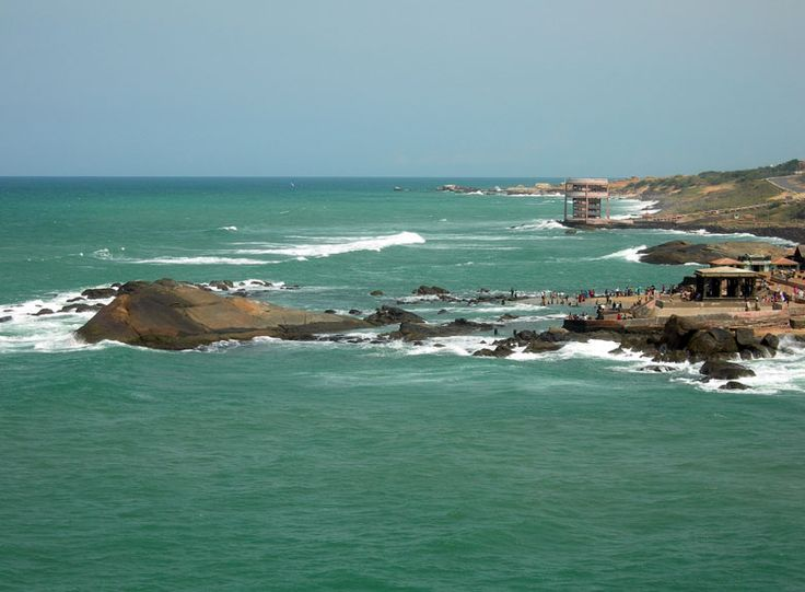 Kanyakumari This is Kanyakumari, the southern most part of India. On a clear day, the confluence of Arabian Sea, Bay of Bengal and Indian Ocean can be viewed. All the 3 have distinct colors.