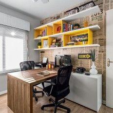 Home Office Colorido - Projeto Ambientta Arquitetura - Arqs. Fernanda Fleck e Larissa Bassi - Porto Alegre
