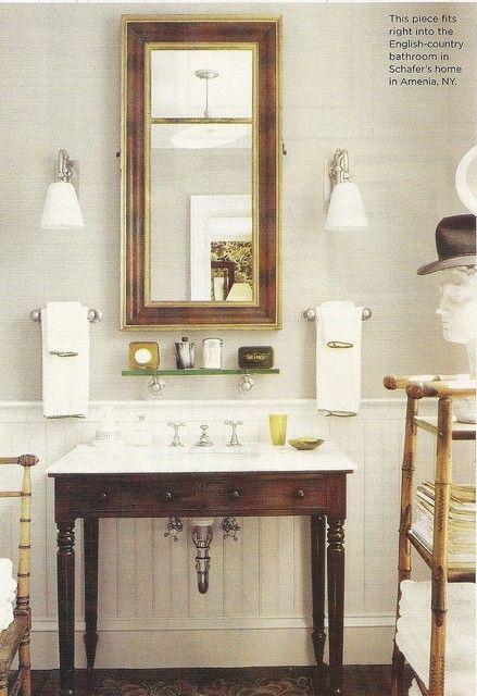 guest bath: Towel Bars, Bathroom Inspiration, Half Bath, Dream, Vanities, Bathroom Ideas, Guest Bath, Powder Rooms