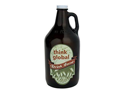 Santa Barbara Design Studio Think Global Drink Local Barstool Philosopher Growler Multicolor