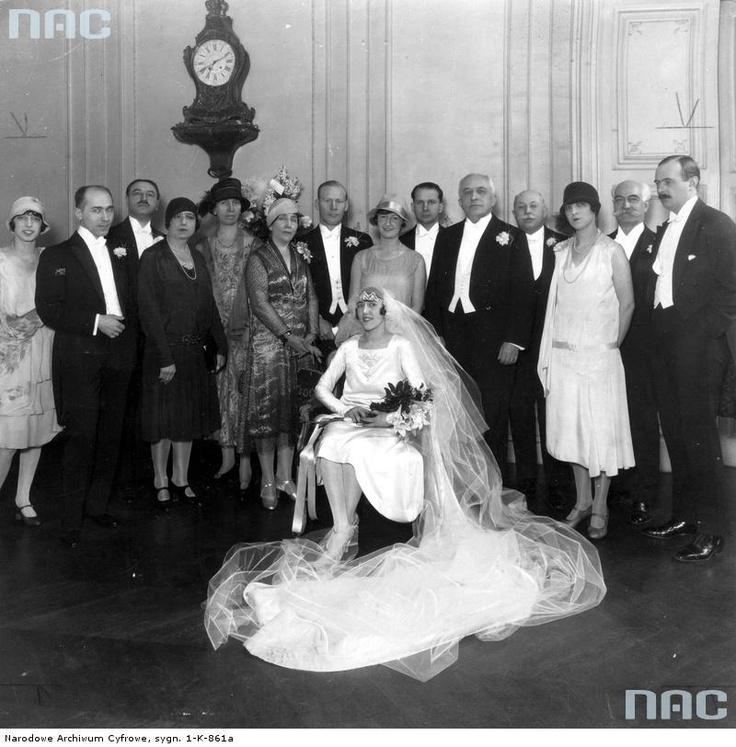 Ślub córki Pawła Kleczkowskiego, Paryż , 1928