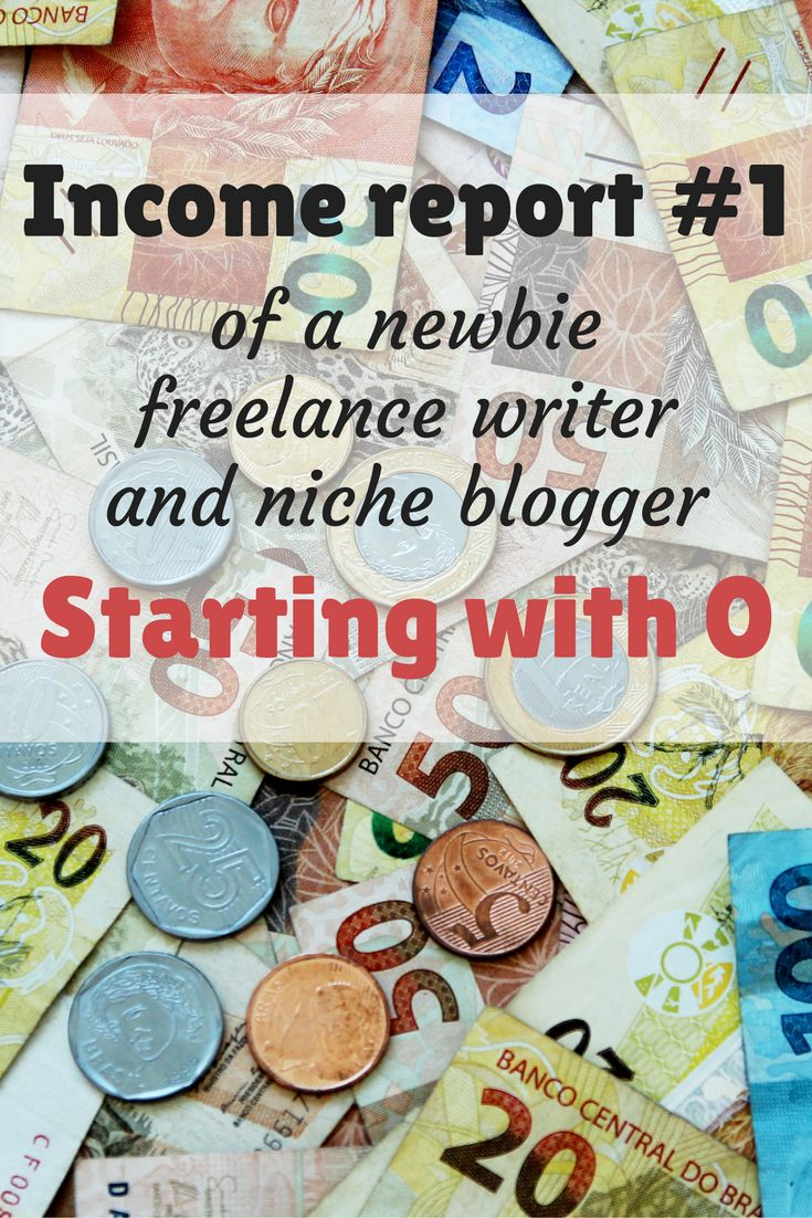 My first income report | newbie freelance writer and niche blogger | starting with 0