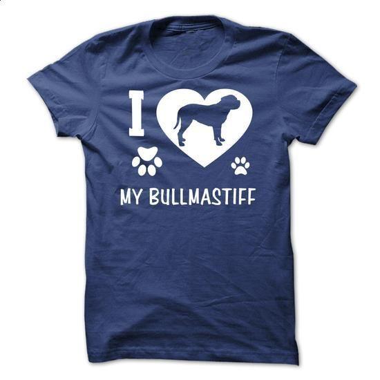 I Love My Bullmastiff - #tee #tee times. MORE INFO => https://www.sunfrog.com/Pets/I-Love-My-Bullmastiff-RoyalBlue-18063074-Guys.html?60505