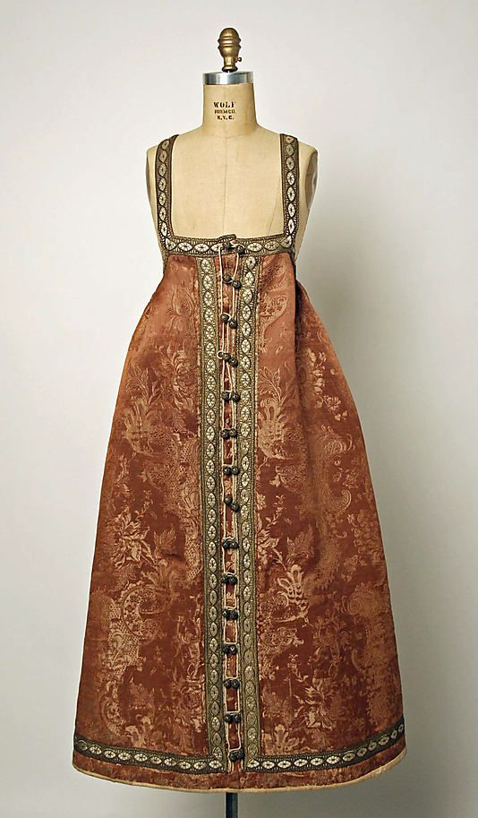 Ensemble Date: 1800–1939 Culture: Russian Medium: silk, fur, silver