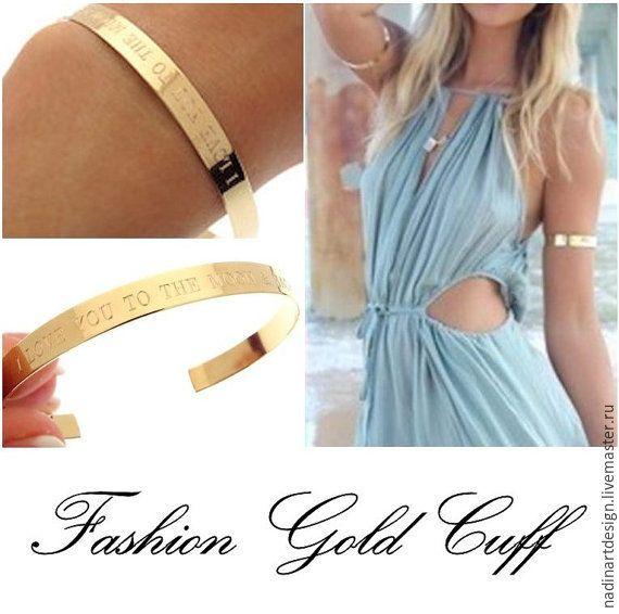 """Купить Браслет """"Летний шик"""". Элегантный золотой браслет. Регулируемый размер - золотой, браслет"""