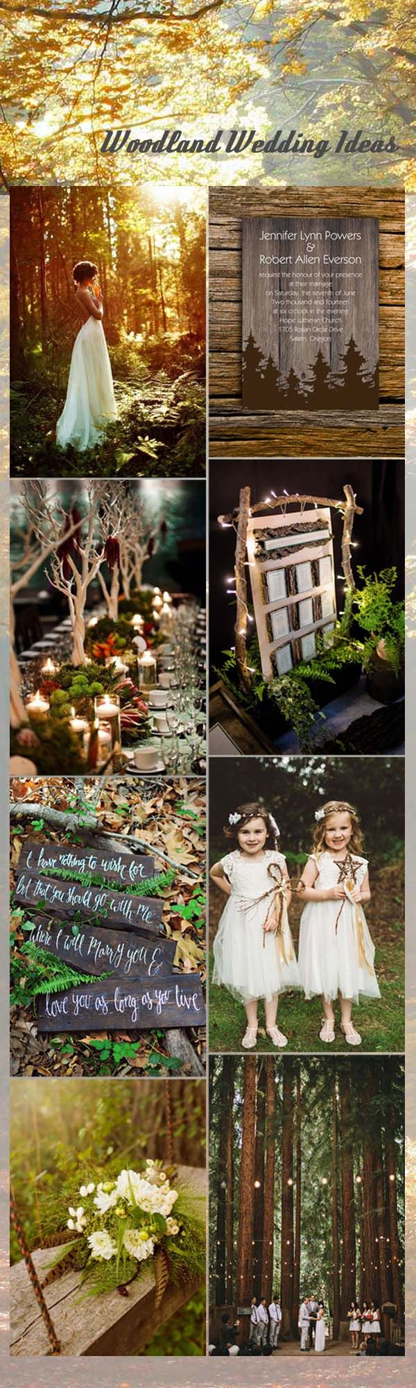 whimsical woodland wedding ideas and invitations