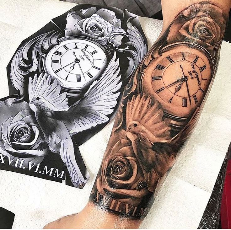 Best 25+ Clock Tattoos Ideas On Pinterest