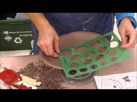 Textured Slab Plate over a Plaster Mold - Ceramics II - YouTube