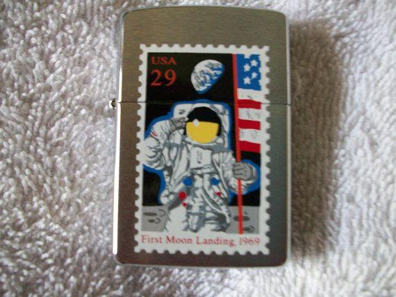 Vintage Lighter Zippo Moon Landing 1st Moon Landing by RickyBees, $88.98